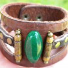 Men bracelet Buffalo Leather Natural stone vintage Bones Customize Indian Style