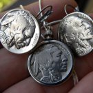 Authentic  Buffalo Indian Nickel coin necklace or/and earring set handmade