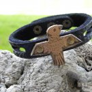 Indian Style Handmade Eagle cuff Wristband Bracelet Buffalo Bison leather,