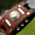 Handmade Cuff Men Bracelets Genuine Buffalo Leather Buffalo Indian Nickel coin