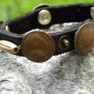 Indian Head 1902 to 1906 penny coin handmade Unique Bracelet Buffalo leather