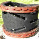 Customize 2 inch wide cuff signed  Bracelet Bison Leather Indian style cuff
