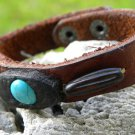 Genuine Bison Leather Cuff Bracelet wristband  Indian Style Handmade wristband