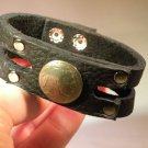 Wristband  Handmade American Bison Leather, Indian Head Cuff  Bracelet