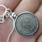 Vintage 10 Centavos Aztec calendar coin Mexican necklace or/and earring or set