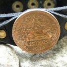 Centavos Aztec Pyramid Customize your wristband Bracelet Buffalo leather