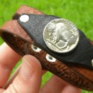 Handmade Cuff  Bracelets Genuine Buffalo Leather Buffalo Indian Nicel