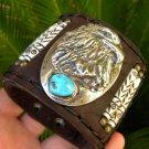Rockstar Bracelet Sterling Turquoise signed Eagle silver  Native Indian style