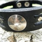 Real Israel  Coin Handmade  Genuine Buffalo Leather Jewish Bracelet