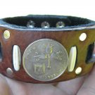 Handmade Bracelets Buffalo Leather Menorah Jewish Bracelet  Star of David Israel