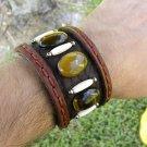 Cuff Bracelet  Genuine Buffalo Leather Handmade Adjustable Indian style mg