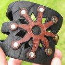 Genuine Buffalo Leather customize wristband  bracelet Aboriginal Indian style mg