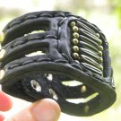 Handmade signed  Bracelet  Buffalo Leather cuff  bone wristband  Indian Style