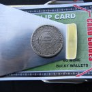 Vintage Aztec Calendar Mexican Coin  Money clip Double side Stainles Steel