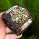 Vintage Holy craft brooch pin Sparkling but not original Rhinestones bracelet