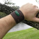 Natural Agate cuff signed Bracelet Handmade Buffalo Leather Navajo Indian style