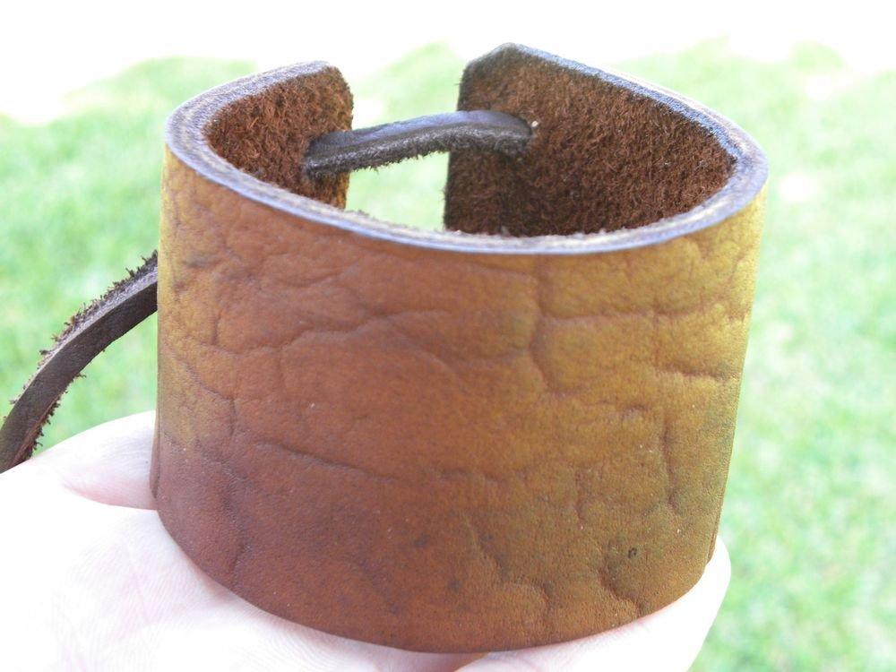 Signed Bracelet  Buffalo Leather wristband Handmade Adjustable Indian style