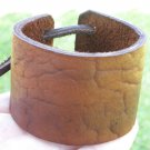 Signed Bracelet  Buffalo Leather wristband Handmade Adjustable Indian style
