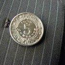 Authentic Vintage  Aztec calendar 5 centavos coin  handmade label pin brooch