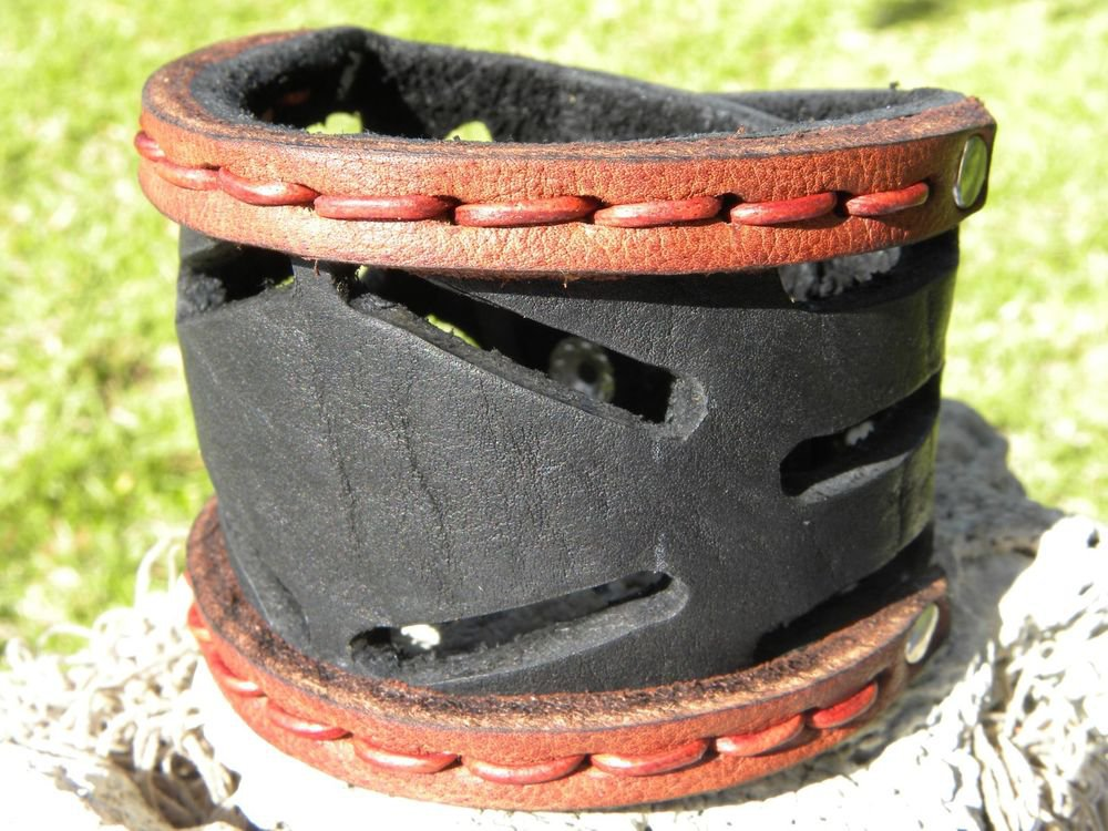 Customize 2 inch wide cuff Bracelet Real Bison Leather Indian style cuff