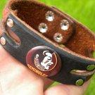 Cuff Handmade Cuff  Bracelets  Buffalo Leather Florida State Seminoles logo