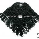 INKASSOUL alpaca PONCHO - PON001 - AU-500 (black)
