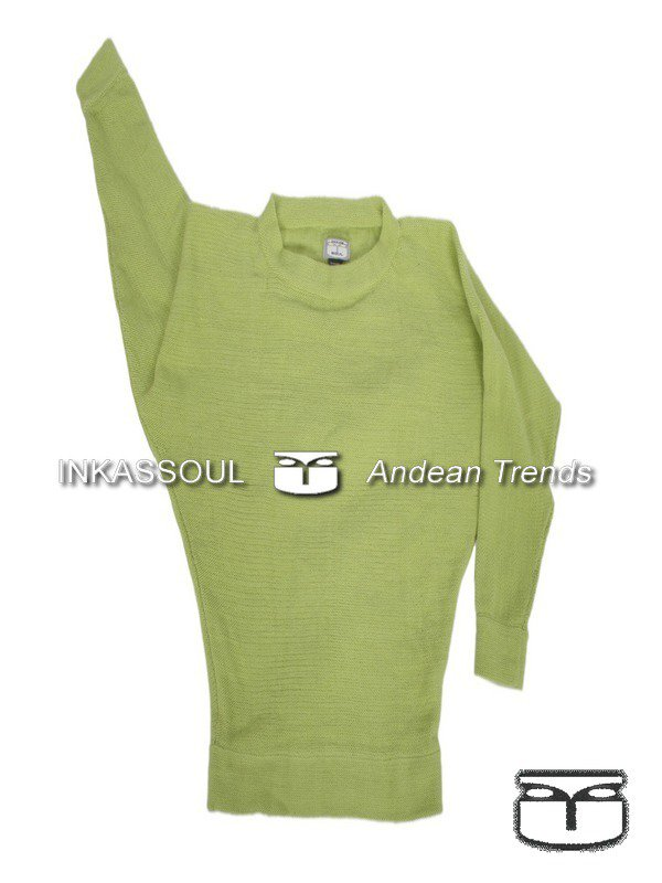INKASSOUL SWEATER - SWE020 - BR-603 (light green) - Large