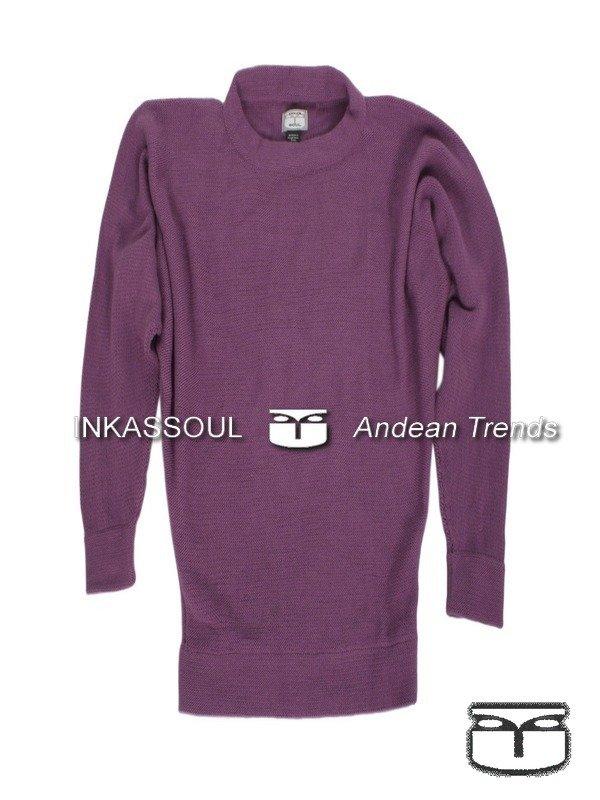 INKASSOUL SWEATER - SWE020 - BR-525 (violet/purple) - Large