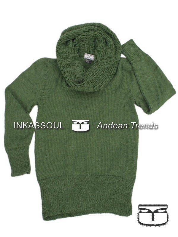INKASSOUL alpaca SWEATER - SWE028 - AW-514 (light green)