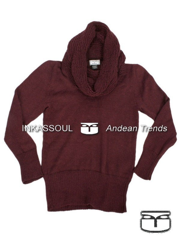 INKASSOUL alpaca SWEATER - SWE028 - AW-843 (cherry)