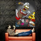 Homer Simpson Assassin S Creed Art Huge 47x35 Print Poster