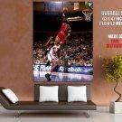 Michale Jordan Dunk Bulls Vs Knicks Nba Huge Giant Print Poster