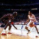 Allen Iverson Vs Michael Jordan 76ers NBA Basketball 32x24 POSTER