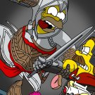 Homer Simpson Assassin S Creed Art 32x24 Print Poster