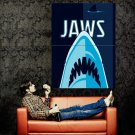 Jaws Movie Art Shark Steven Spielberg Huge 47x35 Print Poster