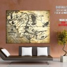 The Lord Of The Rings Middle Earth Map Art HUGE GIANT Print Poster