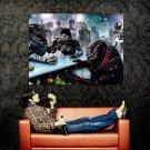 Mass Effect 1 2 3 Bar Game Art Aliens Huge 47x35 Print POSTER