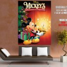 Mickey Mouse Christmas Retro Movie Vintage HUGE GIANT Print Poster