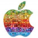 Apple Logo Collage Art 32x24 Print Poster