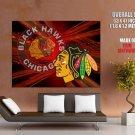 Chicago Blackhawks Logo Nhl Huge Giant Print Poster