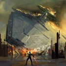 Sith Force Star Destroyer Star Wars 24x18 Print Poster