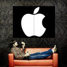 Apple Logo Black White Brand Huge 47x35 Print Poster