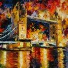 Tower Bridge London Leonid Afremov Art 16x12 Print Poster