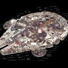Millennium Falcon Schematic Star Wars Art 24x18 Print POSTER