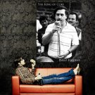 Pablo Emilio Escobar Colombian Drug Lord Outlaw Huge 47x35 POSTER