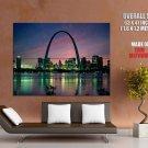 St Louis Missouri Night Skyline Around The World Huge Giant Poster