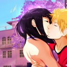 Uzumaki Naruto Hyuuga Hinata Kiss Anime Art 16x12 Print Poster
