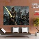 Star Wars Jedi Lightsaber Clones Rain Art Huge Giant Print Poster
