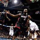 LeBron James Dwyane Wade Alley Oop NBA 32x24 Print POSTER