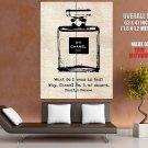 Chanel No 5 Marilyn Monroe Quote Art HUGE GIANT Print Poster